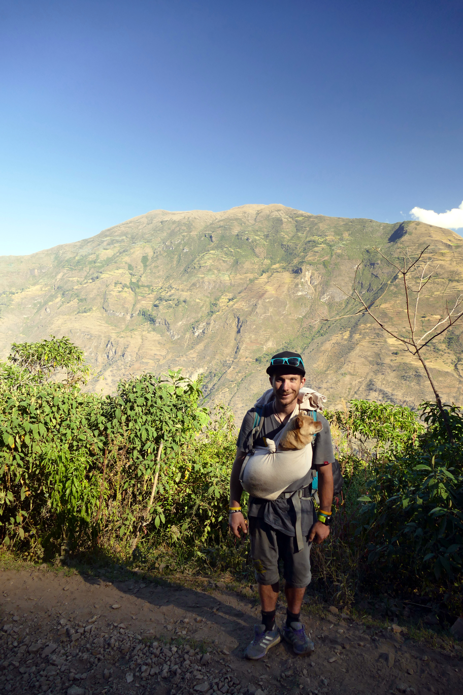 Alwin as pack donkey for Layla on the Choquequirao track