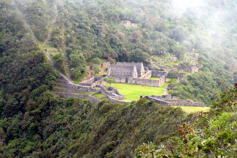 the challenging trail to the Choquequirao ruins